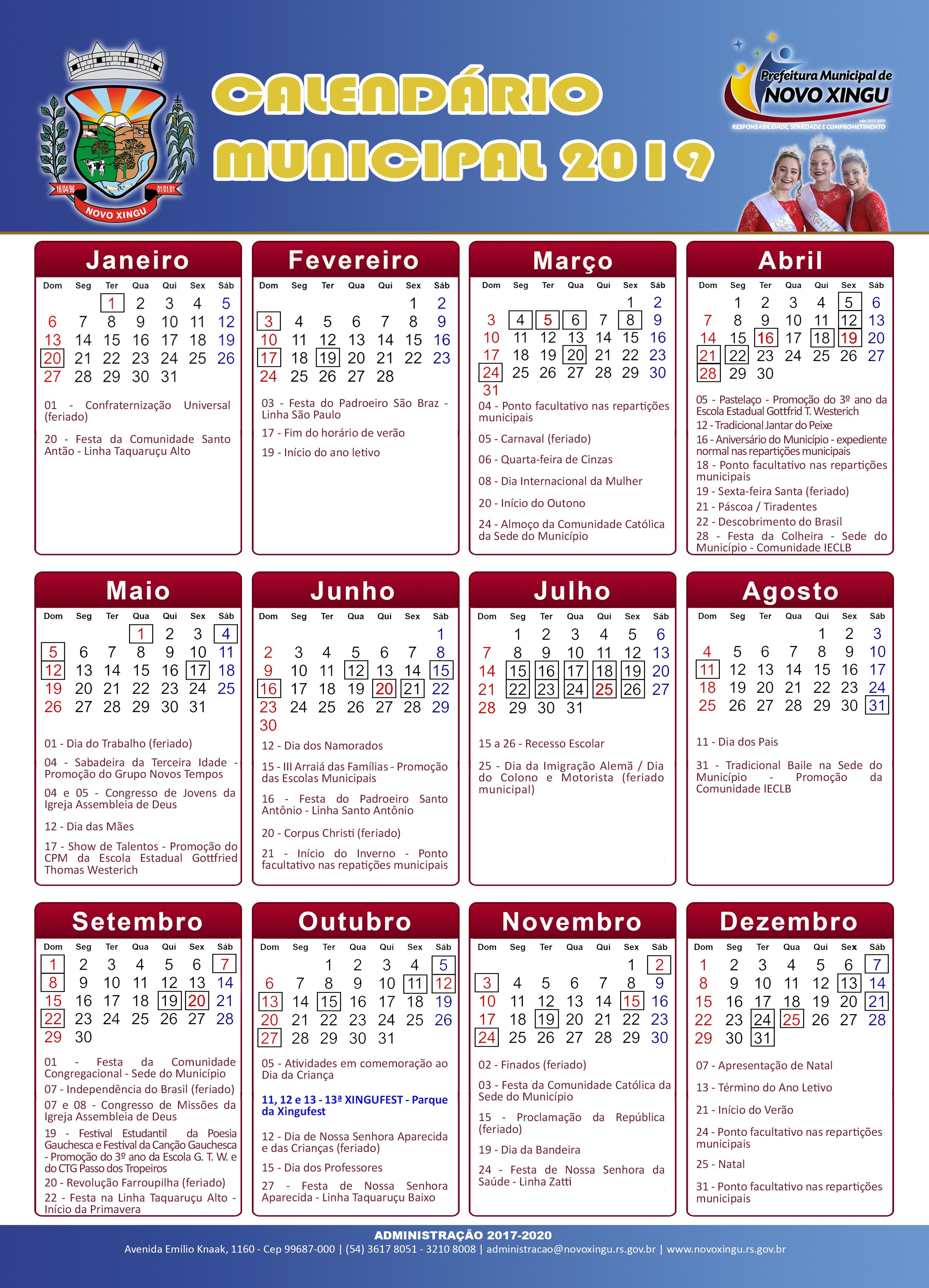 Calendário Municipal
